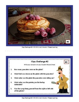 I SPY CHALLENGE #2 •  AN AWARENESS AND OBSERVATION GAME