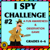 NEW! I SPY CHALLENGE #2 •  AN AWARENESS AND OBSERVATION GAME