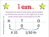 NEW I can Statements for 4th Grade Texas Math