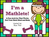 OLYMPICS Activity: I'm a Mathlete! Math Workout