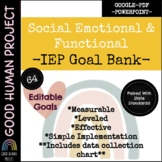 NEW! IEP Goal Bank | Social Emotional & Functional Goals |