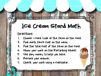 Ice Cream Stand Math: A Sweet Activity to Review Money and Decimals