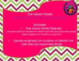 NEW! Identify Main Idea and Supporting Details The House Model (Common Core)