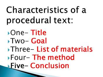 NEW & Improved Procedural Text