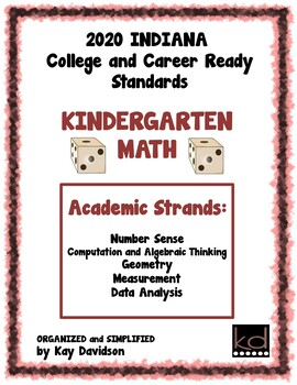 2014 Indiana Standards: Simplified for Kindergarten Math and ELA