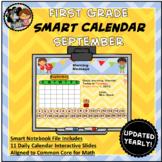 Interactive Calendar for SMART Board FIRST GRADE September-Themed