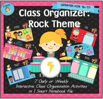 Interactive Class Organizer for Smart Notebook - Rock Theme