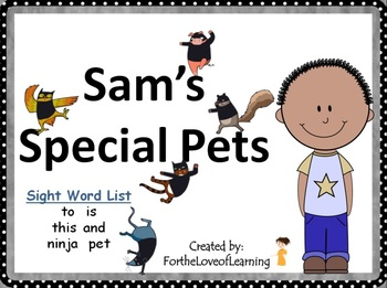 NEW! ** Interactive Sight Word Reader Kit 2 - Sam's Special Pets