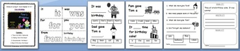 NEW! ** Interactive Sight Word Reader Kit 4 - Tom's Birthday Party