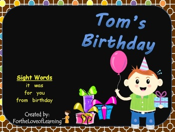 NEW! ** Interactive Sight Word Reader Kit 4 - Tom's Birthd
