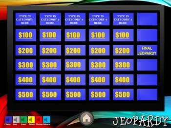 NEW ADVANCED JEOPARDY TEMPLATE