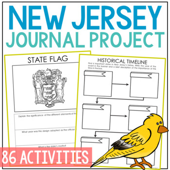 NEW JERSEY State History Guided Research Project, Notebook Journal {EDITABLE}