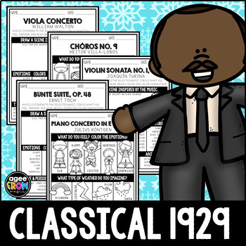 MARTIN LUTHER KING ACTIVITIES - Classical Music Composer Listening, January