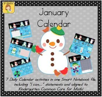 January Smart Bundle for Kindergarten