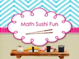 NEW  K-1 Math Sushi Fun (includes 72 Task Cards & Progress Monitoring)
