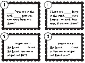 NEW  K-3 Math Story Mats MAKE WORD PROBLEMS FUN AND HANDS-ON!