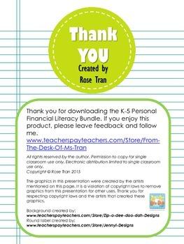 BEST BUY!  K-5 Personal Financial Literacy BUNDLE (Over 300 task cards)