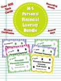 BEST BUY!  K-5 Personal Financial Literacy BUNDLE (Over 300 task cards)