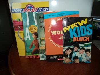 NEW KIDS ON THE BLOCK + 4 BKS        (SET OF 5 BOOKS)