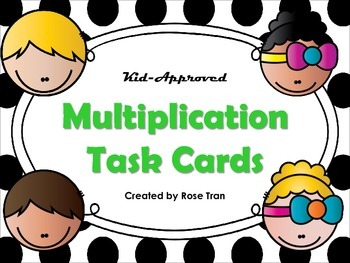 NEW  Kid-Approved Multiplication Task Cards Set of 60 (3.4