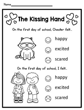NEW!! Kissing Hand Classroom Pack-Perfect for 1st Day of School! (Preschool-2nd)