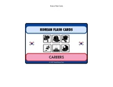 NEW Korean Language Flash Cards Set - careers and jobs set of 40 cards
