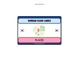NEW Korean Language Flash Cards Set - places set of 32 cards