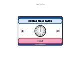 NEW Korean Language Flash Cards Set - telling time set of 28 cards