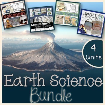 NEW Landforms, Volcanoes, Earth's Layers, Plate Tectonics - Earth Science Bundle
