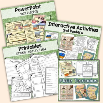 Landforms, Volcanoes, Earth's Layers, Plate Tectonics - Earth Science Bundle