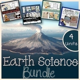 Landforms, Volcanoes, Earth's Layers, Plate Tectonics - Bundle Distance Learning