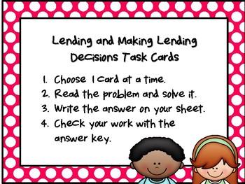 NEW  Lending & Making Lending Decisions (TEKS 2.11E FINANCIAL LITERACY)