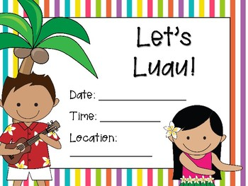 NEW  Let's Luau! End of Year Party Printables GREAT FOR END OF YEAR PARTY!