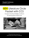NEW Literature Circle Packet with CCS