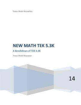 STAAR 5th Grade MATH Breakdown TEK 5.3K (2014-2015)