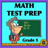 NEW! MATH TEST PREP  •   GRADE 5