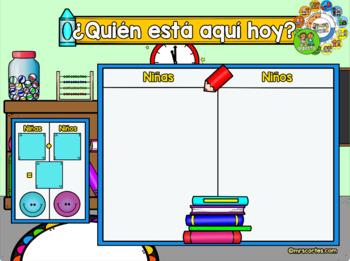MIMIO Calendar Math- Agosto (Spanish)