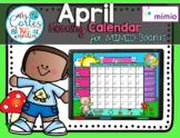 MIMIO Calendar Math- April (English)