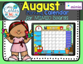 MIMIO Calendar Math- August (English)