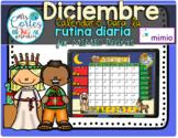 MIMIO Calendar Math- Diciembre (Spanish)