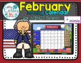MIMIO Calendar Math- February (English)