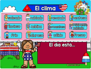 MIMIO Calendar Math- Julio (Spanish)