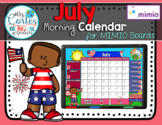 MIMIO Calendar Math- July (English)
