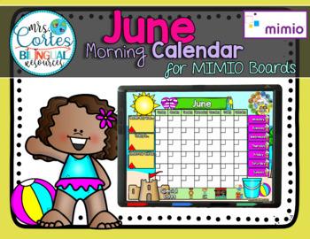 MIMIO Calendar Math- June (English)