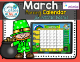 MIMIO Calendar Math- March (English)