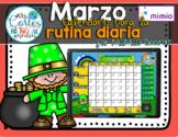 MIMIO Calendar Math- Marzo (Spanish)