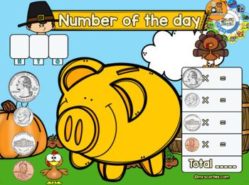 MIMIO Calendar Math- November (English)
