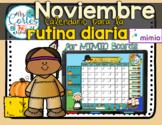 MIMIO Calendar Math- Noviembre (Spanish)