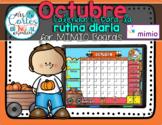 MIMIO Calendar Math- Octubre HALLOWEEN VERSION (Spanish)