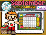 MIMIO Calendar Math- September (English)